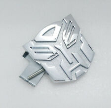 Chrome Transformers Autobot Grill Badge Front Emblem Metal