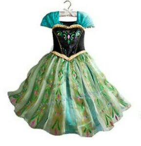 DISNEY ANNA FROZEN PRINCESS FANCY DRESS COSTUME SIZE 140 cm  AGE 8 - 10 YEARS