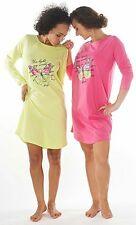 Damen-Nachthemd 2 Stück = 1 Preis (DF627) Gr.: 48-50 Reine Baumwolle Jersey