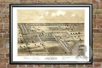Old Map of Camp Chase, OH from 1860 - Vintage Ohio Art, Historic Decor