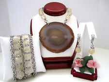 "Brighton ""ROCK MY HEART"" Necklace-Earring-Bracelet Set (MSR$238) NWT/Pouch"