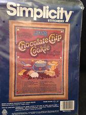 "Simplicity Cross Stitch Kit ""Moms Chocolate Chip Cookie Recipe""  12"" x 16"", New!"
