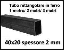 Tubolare in ferro rettangolare tubo barra profilo liscio di 40x20x2 mm scatolato
