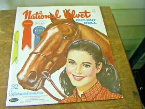 Vintage 1961 National Velvet Cut Out Doll Clothes and Accessories