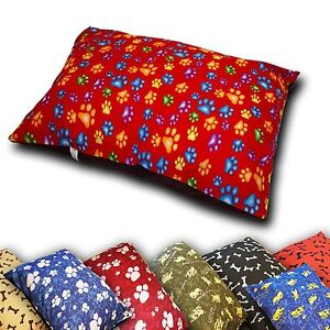 DOG BED REMOVABLE ZIPPED COVER LARGE SIZE WASHABLE PET CUSHION COVER ONLY