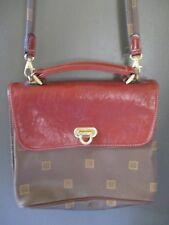 """Texier made France true vintage herringbone canvas leather shoulder bag 10"""""""