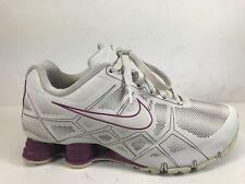 92c8e555b854 Nike Shox Turbo XII SL White Purple Athletic Running Shoes Womens 8  472530-106