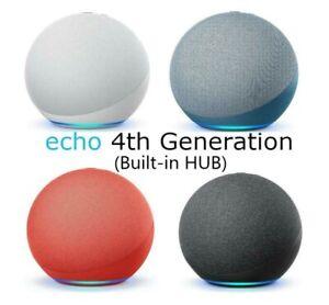 Amazon Echo (4th Gen), Smart Home Hub and Alexa, Premium Sound (2020model) NEW!!