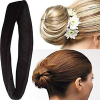 Black Hair Bun French Twist Donut Style Girls Kids Doughnut Styling Accessories