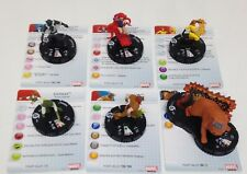 Heroclix Guardians of the Galaxy set COMPLETE 6-figure Fast Forces lot w/cards!