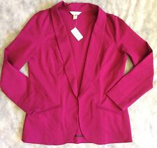 CHRISTOPHER & BANKS Womens L Blazer Fuscia Long Sleeve New wTags MSRP $59.95
