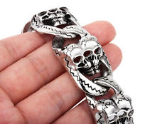 New 134g Heavy Jewelry Gothic Men Cool Skull Bracelet Biker Stainless steel 26mm