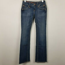 Rock Revival Gwen Boot Cut Womens Dark Wash Jeans Size 27x34