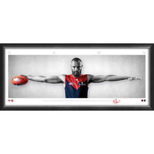 Max Gawn Signed Melbourne Demons Mini Wings Official AFL Print Framed BRAND NEW