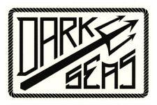 Dark Seas Clothing Sticker Adrian Lopez Schwarz Weiß 13,5x9cm Rechteckig