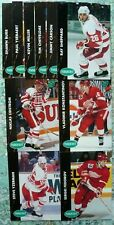 Detroit Red Wings 1991-92 Parkhurst Team Set Lot Yzerman Fedorov Lidstrom RC ++