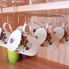 Kitchen Under Shelf Coffee Cup Mug Holder Hanger Storage Rack Cabinet Hook