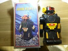 """Old Toy - John Robot - 1970s? - In box, barely used - 13"""" tall - Still shiny!"""