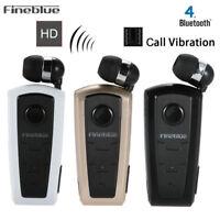 Original F910 FineBlue Wireless Bluetooth Headset Earphone Vibrating Alert SP