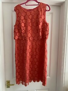 Precis Pink Floral Lace Sleeveless Dress Size 12