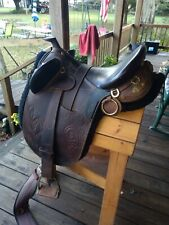 """Down Under Saddlery Australian Saddle 16"""" with Horn, Very Lightly Used"""