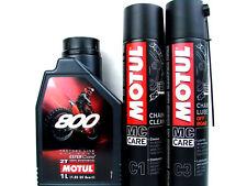 1 Litro Aceite para motos MOTUL 800 Off Road + CADENA Asistencial C1 + GRASA DE