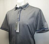 New Mens Bobby Jones Rule 18 polyester spandex short sleeve golf polo shirt XL