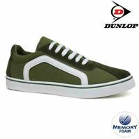 MENS DUNLOP MEMORY FOAM KHAKI CANVAS PLIMSOLLS PUMPS SHOES TRAINERS SIZES 7-12