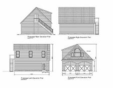 26X30 Garage Plan Gable Roof Dormer 30X26 Garage Blueprint Plan #17-2630Gbldorm1