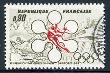 STAMP / TIMBRE FRANCE OBLITERE N° 1705 JEUX OLYMPIQUES HIVERS A SAPPORO