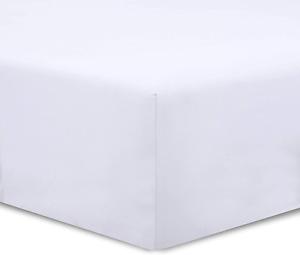 VISION Drap housse Blanc - 200 x 200 cm - 100% coton
