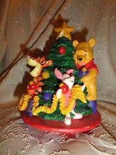 Disney Winnie the Pooh & Friends Decorate Christmas Tree Jar Candle Topper Resin