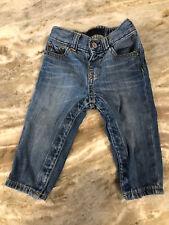 Baby Gap 1969 Boys Denim Blue Jeans Size 12-18 Months Snap Closure Between Legs