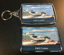 P&O Cruises AURORA & VENTURA Photo Key Ring & Fridge Magnet Cruise Ship New Liv