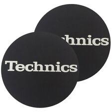 TECHNICS SLIPMATS coppia di panni sottodisco per giradischi (LOGO SILVER)