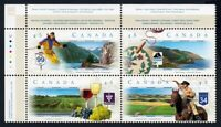 SCENIC HIGHWAYS = Canada 1997 #1653a MNH-VF UL Block of 4 q01
