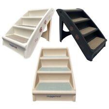 HugglePets Pet Stairs Plastic Folding Dog Step & Carpet Lightweight Sofa Access