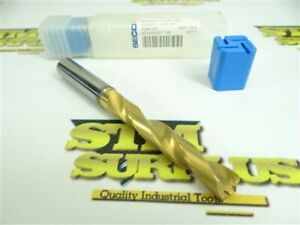 NEW! SECO SOLID CARBIDE TIN COATED COOLANT THRU DRILL 11.0MM