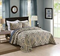 3 Piece Lightweight Quilt King Printed Quilt Set Bedding Lightweight Oversize
