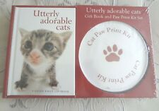Utterly Adorable Cats Gift Book and Paw Print Kit Set New