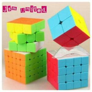 QiYi Magic Cube Speed Cube 2x2 3x3 4x4 5x5 Stickerless Twisty Magic Puzzle