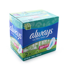 Always Ultra Thin Pads Size 2 Super Long Absorbency Unscented with Wings (92 ct)