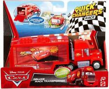 Disney Cars Cars 2 Quick Changers Race Deluxe Mack Transporter Diecast Car
