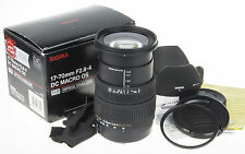 Sigma 17-70mm f/2.8-4 DC HSM OS Lens for Canon +box +uv +hood +papers *faulty OS