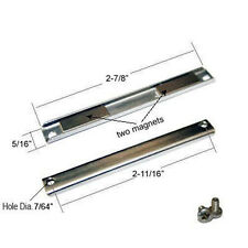 "Shower Door Replacement Magnet w/ Screws - 2-7/8"" long"