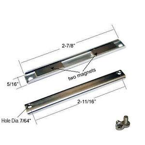 """Shower Door Replacement Magnet w/ Screws - 2-7/8"""" long"""