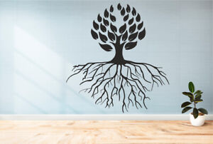 Tree With roots wall sticker decor Vinyl Art Wall Decal  Family
