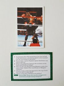 Mike Tyson Rookie Card  Question Of Sport Game Dated 1986  Good Condition