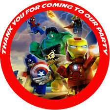 20 x 33mm Lego Superheros Avengers Personalised Stickers Check my store for more