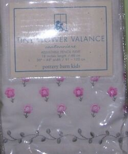 NEW Pottery Barn Kids TINY FLOWER VALANCE embroidered $59
